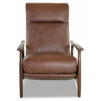 CLP691HLRCBRONXSOD Sod Brown Leather High Leg Recliner - Comfort