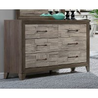 Contemporary Two-Tone Walnut Dresser - Jaren