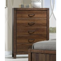 Modern Rustic Brown Chest of Drawers - Belmont
