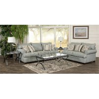 Casual Classic Mist Green 7 Piece Living Room Set - Alison