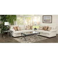 Casual Classic Linen 7 Piece Living Room Set - Alison