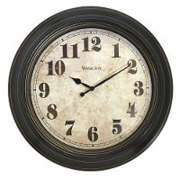 Chestnut Brown 24 Inch Round Wall Clock