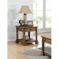 Rustic Brown End Table - Barclay
