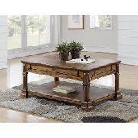 Rustic Brown Coffee Table - Barclay