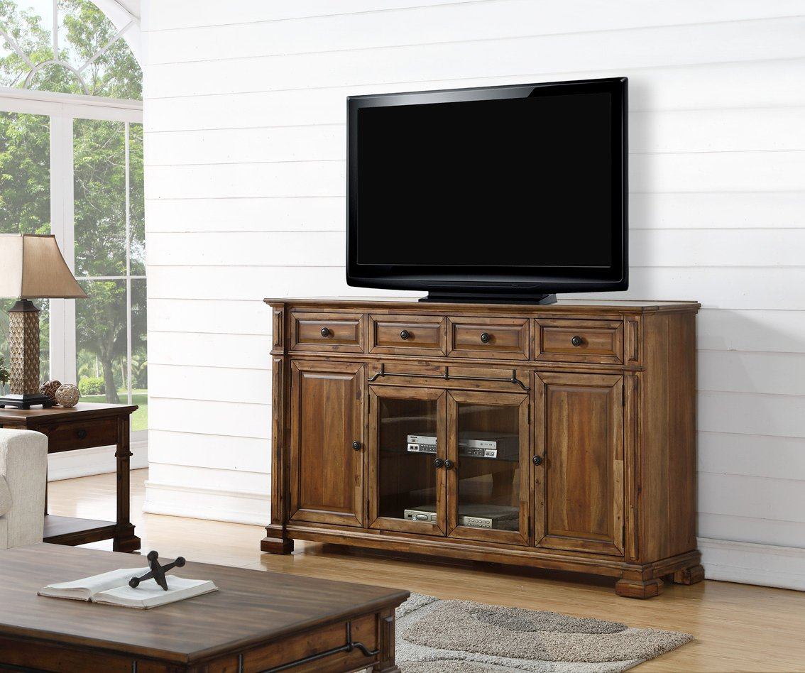 4 Piece Rustic Brown Entertainment Center Barclay RC Willey