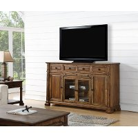 75 Inch Rustic Brown TV Stand - Barclay