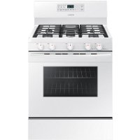 NX58M5600SW Samsung Gas Range with Stovetop Griddle - 5.8 cu. ft. White