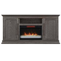 68 Inch Modern Brown TV Stand with Fireplace - Ridgefield