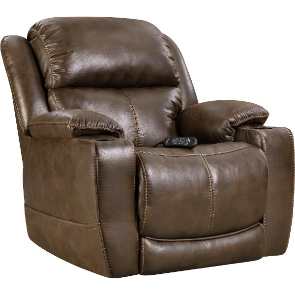 ... Badlands Walnut Brown Power Recliner   Starship