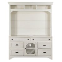2-Piece Antique White Entertainment Center - Coventry Lane