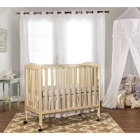 French White 3-in-1 Folding Portable Crib