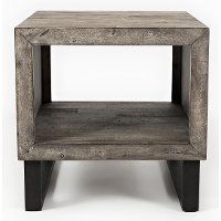 Modern Gray End Table - Mulholland Drive