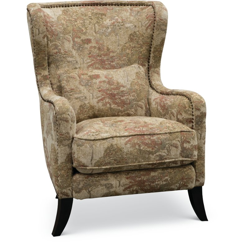 Traditional Coral Accent Chair - New Trees