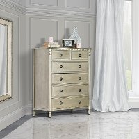 Antique Bronze 6-Drawer Chest - Julienne