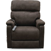 Gunmetal Dark Brown Reclining Lift Chair - Stonewash