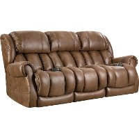 Brown Power Reclining Sofa - Atlantis