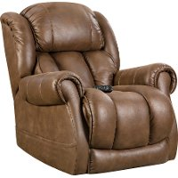 Casual Contemporary Brown Power Recliner - Atlantis