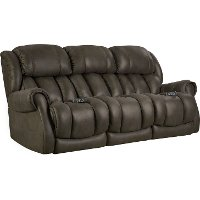 Casual Contemporary Dark Gray Power Reclining Sofa - Atlantis