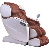 KIT Cappuccino Brown & Pearl White Wall Hugger Massage Chair - Vario