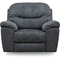 Casual Contemporary Blue Power Recliner - Imprint