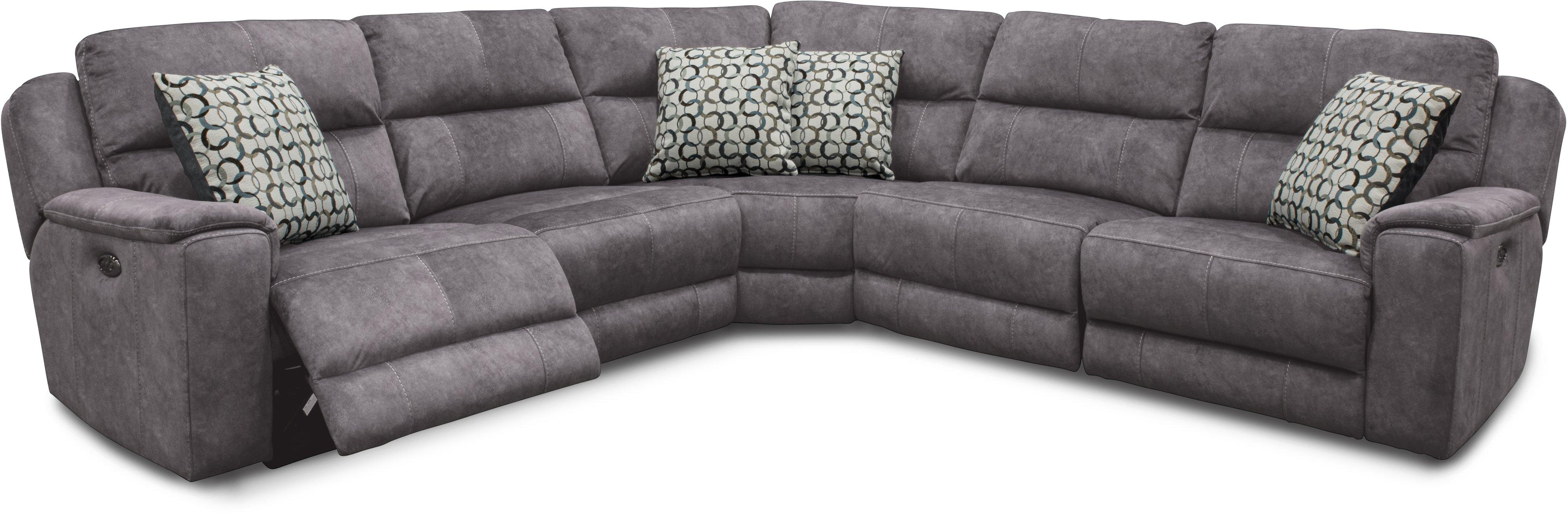 Blue 5 Piece Power Reclining Sectional Sofa   Imprint