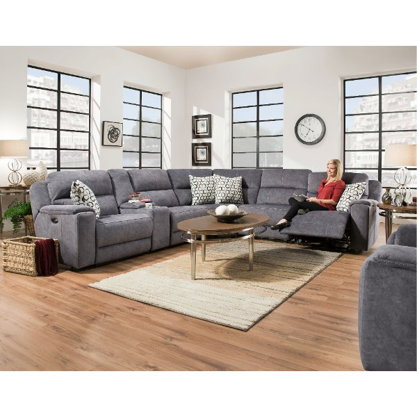 becky with recliner sofa modern sectional