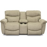 490-521/D149123MCNSL Light Green Manual Full Reclining Console Loveseat - James