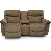 490-521/D149177MCNSL Java Brown Manual Full Reclining Console Loveseat - James
