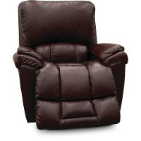 P10-772LB152109/PRC Burgundy Leather-Match Power Rocker Recliner - Melrose