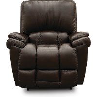 P10-772/LB152179/PRC Dark Brown Leather-Match Power Rocker Recliner - Melrose