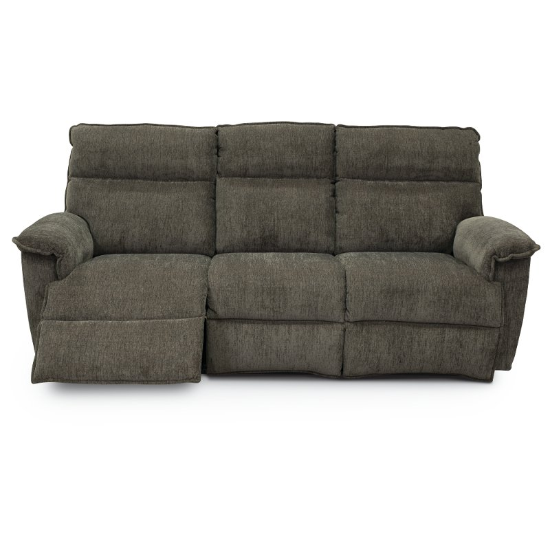 Gray La Z Time Power Recline Full Reclining Sofa Jay Rc Willey Furniture