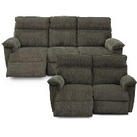 KIT Gray Power Full Reclining Living Room Set - Jay