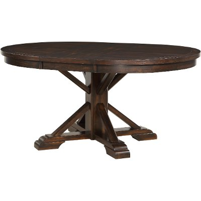 Tobacco Brown Dining Room Table