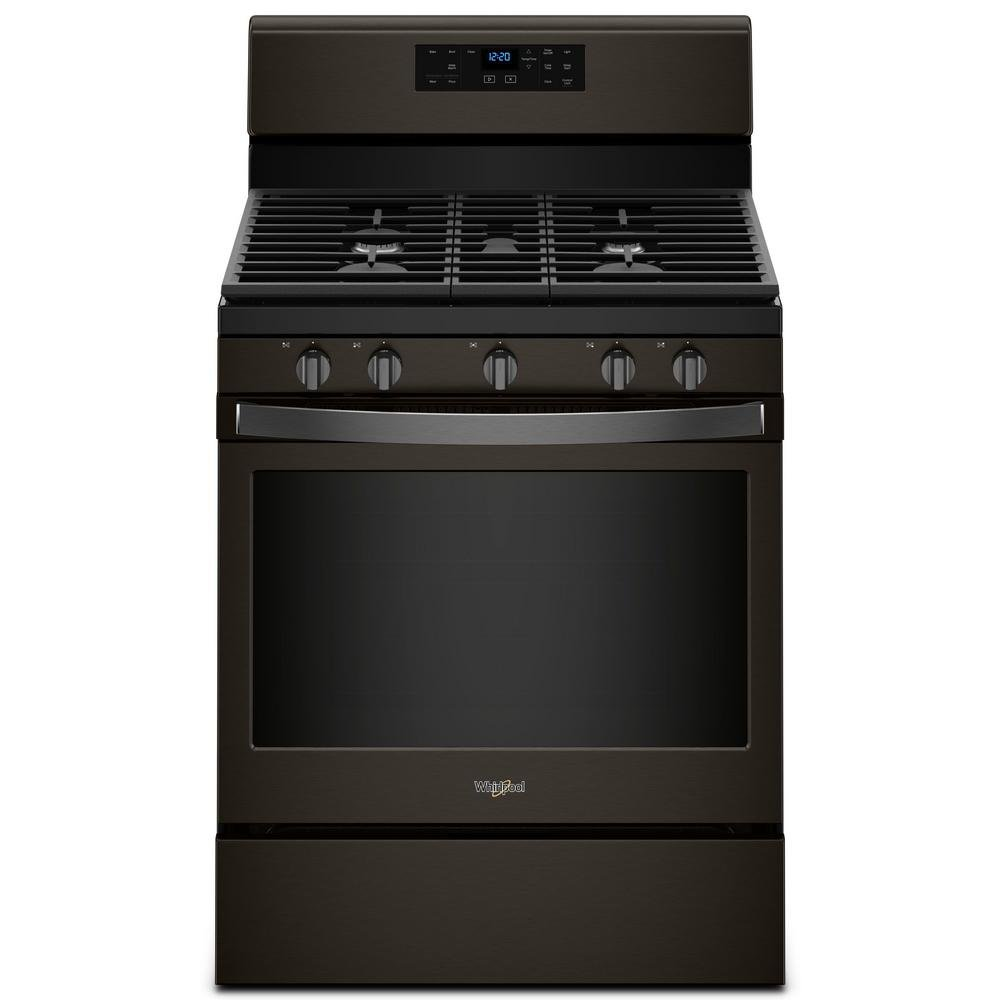 whirlpool black stainless steel 4 piece kitchen appliance package