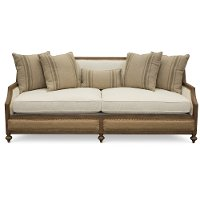 Magnolia Home Furniture Linen & Burlap Sofa - Foundation