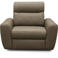 CB3E-T1/V636C Taupe Leather-Match Power Recliner - Robert