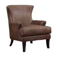 Java Brown Microfiber Accent Chair - Nola