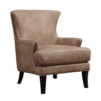 Contemporary Light Brown Accent Chair - Nola