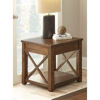 Rustic Mocha Brown Coffee Table - Lenka