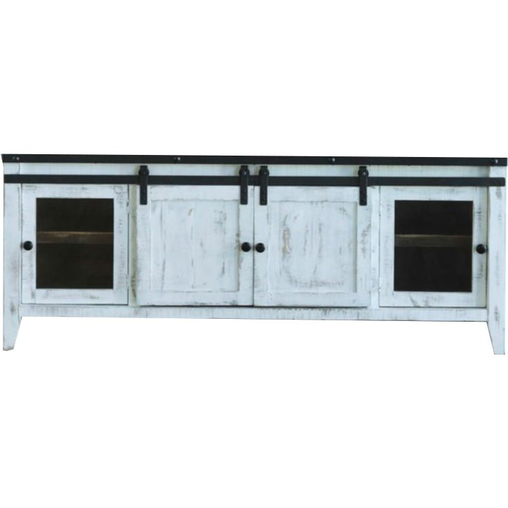 68 Inch Modern Distressed White Tv Stand