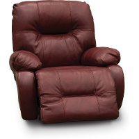 Red Leather-Match Medium Scale Power Rocker Recliner - Brinley2