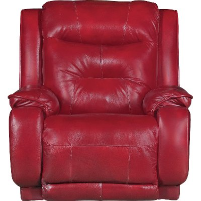 Marsala Red Leather Match Reclining Power Lift Chair   Cresent