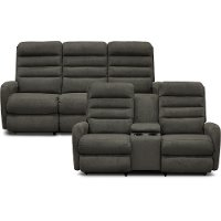 KIT Gray Reclina-Way Full Manual Reclining Sofa & Loveseat - Forum