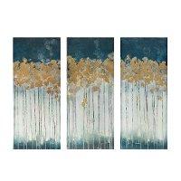Midnight Forest Canvas Wall Art - Set of 3