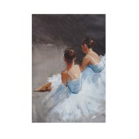 Dance with Me Hand Embellished Canvas Wall Art
