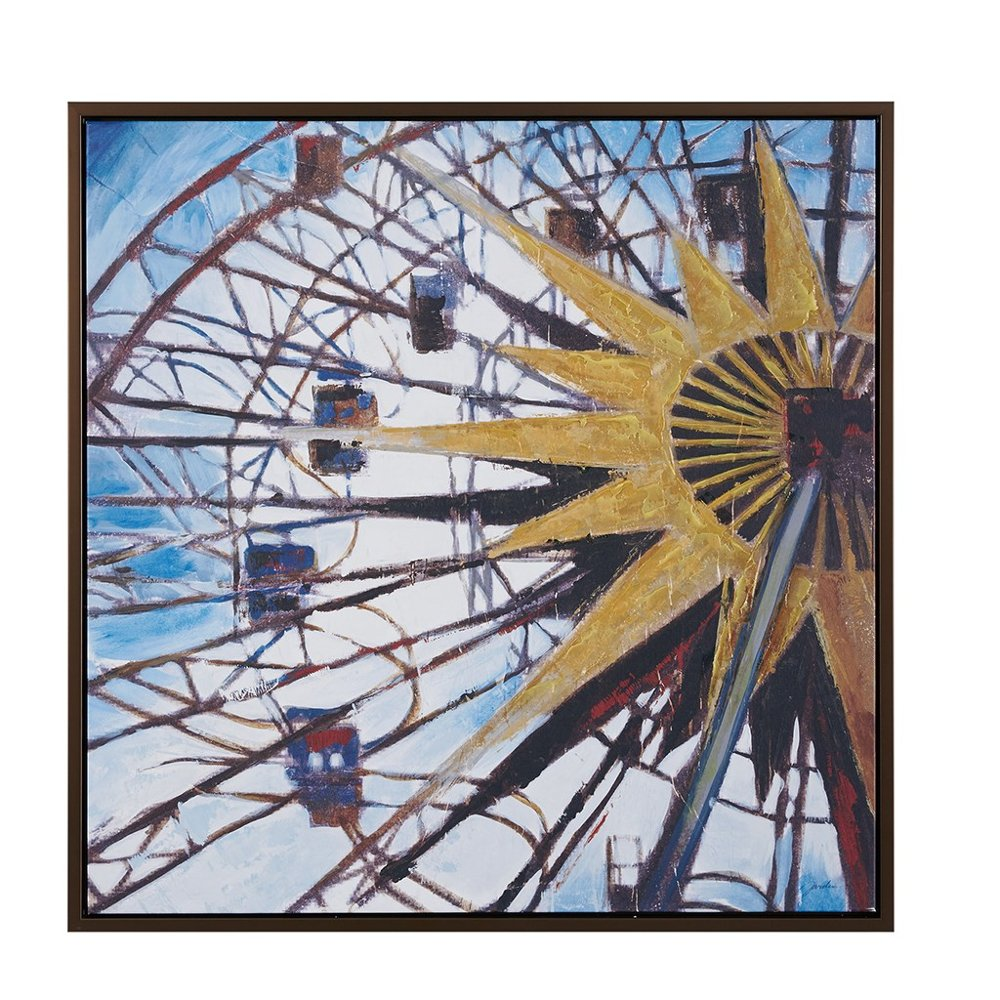 Carnival Ferris Wheel Gray Frame Wall Art | RC Willey Furniture Store