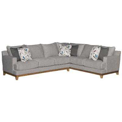Gray Casual Contemporary 2 Piece Sectional   Dayton