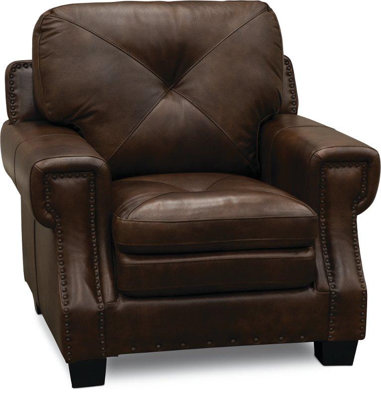 Clic Traditional Dark Brown Leather Chair Savannah