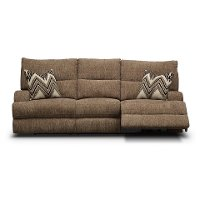 3268-53HP/PWRSOFA/HR Brindle Brown Power Reclining Sofa - Happy