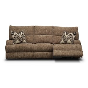 ... 3268 53HP/PWRSOFA/HR Brindle Brown Power Reclining Sofa   Happy